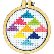 """Cross Stitch Style Mini Round Wood Hoops Punched-1.5"""" Round"""