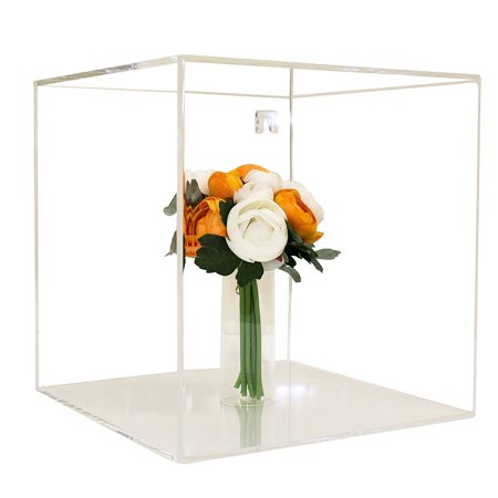 Deluxe Clear Acrylic Wedding Bouquet Display Case with Wall Mount ...