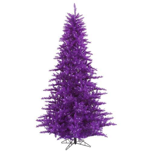3' Medium Purple Fir Artificial Christmas Tree - Unlit
