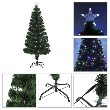 colorful led color changing led fiber optic lights christmas tree decoration