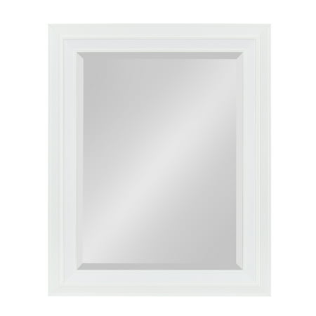 Kate and Laurel - Whitley Classic Decorative Framed Beveled Wall Mirror, 23.5 x 29.5, White