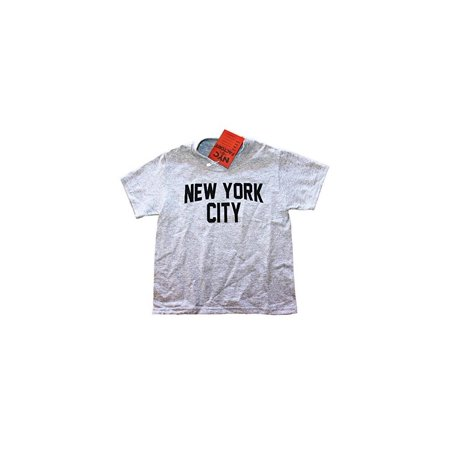 Nyc Factory New York City Youth T Shirt Screenprinted Gray Boys