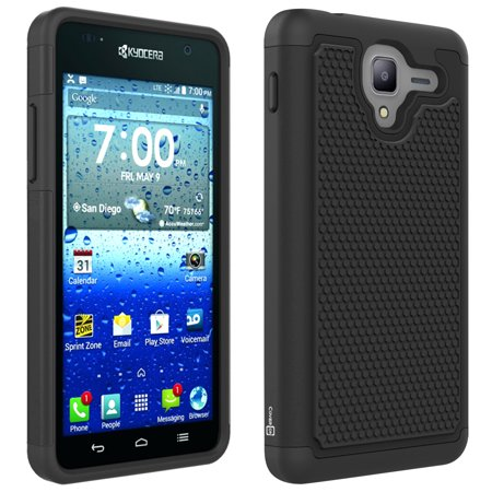 CoverON Kyocera Hydro View Case, HexaGuard Series Hard Phone Cover