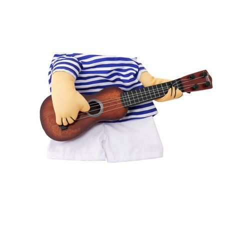 Pet Clothes Funny Singer Puppy Costume Dog Cat Playing Guitar Fancy Costume Halloween Coslay Party Christmas Gift Size L