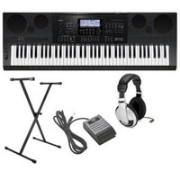 Casio CWK7600 4 pc Ultra-Premium Keyboard Package With Headphones, Stand, Sustain Pedal and Power Supply