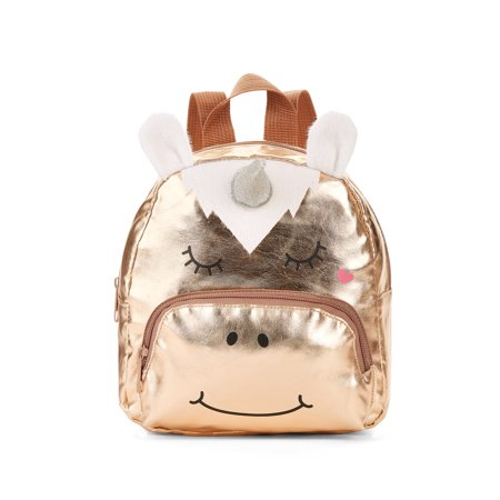 Carried Away Girls' Rose Gold Unicorn Backpack