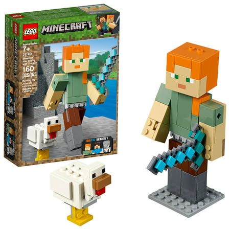 LEGO Minecraft Alex BigFig with Chicken 21149](Minecraft Cake Supplies)