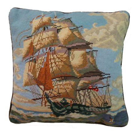 (USS Constitution Needlepoint Pillow)