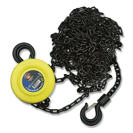 15ft Standard Lift Chain Hoist - Neiko Chain Hoist 1 Ton 15' Foot Lift, Chain Dia 1/4