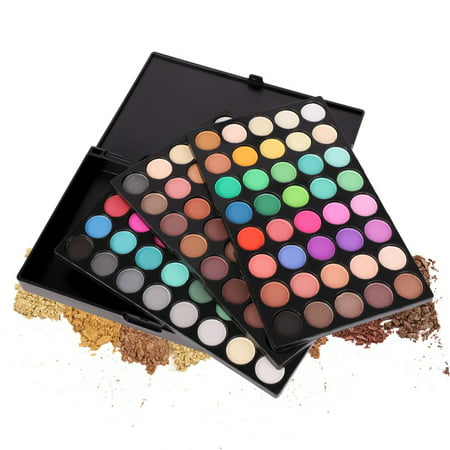 Sweetsmile New Recommend 120 Colors Glitter Makeup Eyes Palette Cosmetics Waterproof Shimmer Glitter Eyeshadow Palette for $<!---->