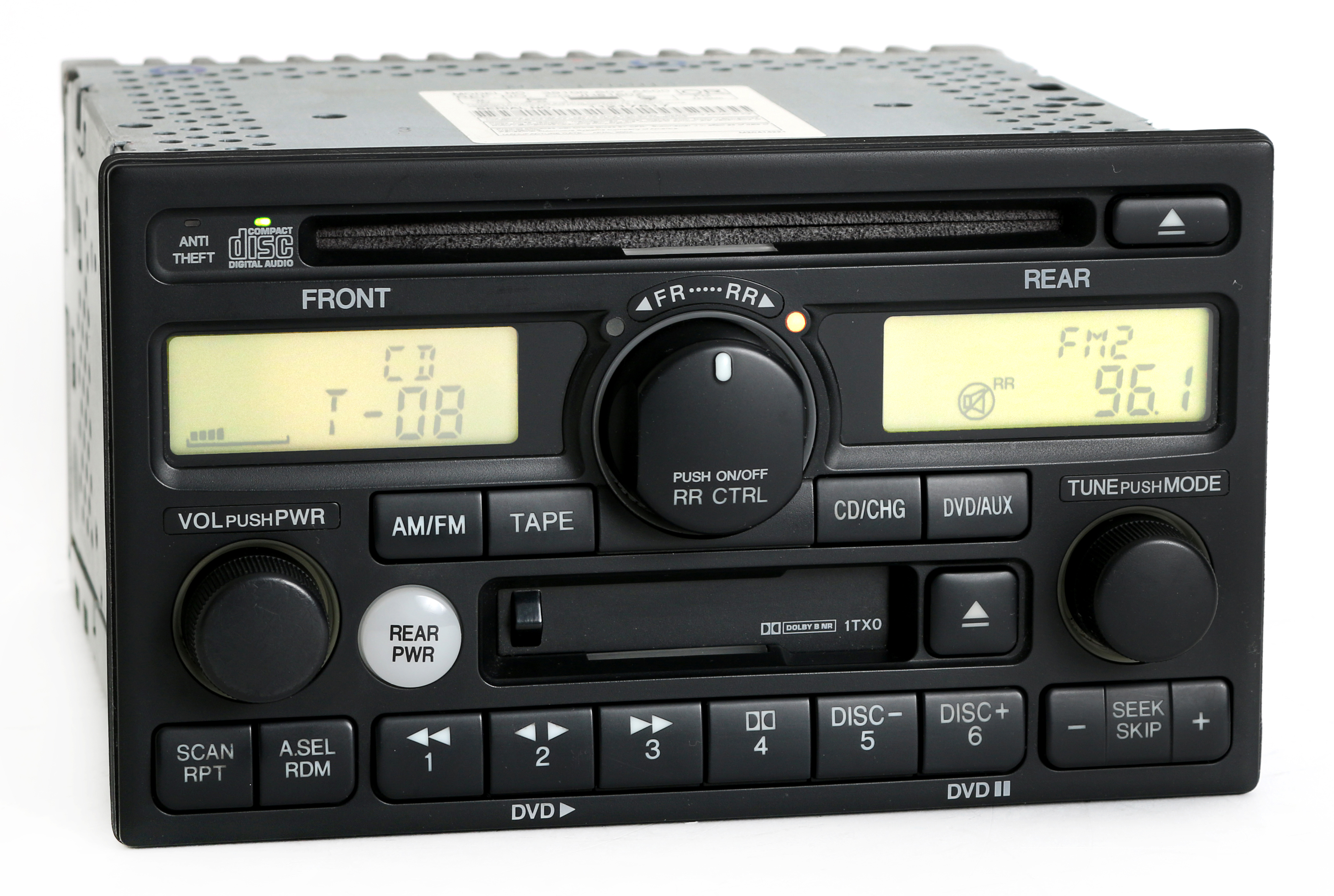 Honda Odyssey EX-L 2002-04 Radio AM FM CD Cassette Player PN 39100-S0X-A500 1TX0 Refurbished by Honda