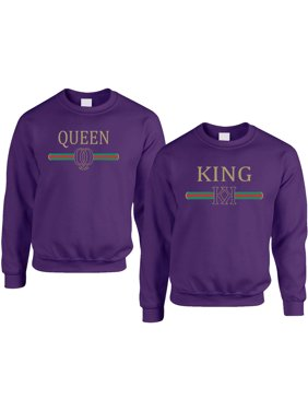 640f986096 Product Image Allntrends Adult Couple Sweatshirts King Queen Fashion  Trending Valentine's Gift
