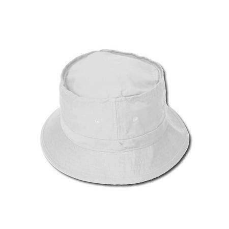 White Bucket Hat (Fishermans Bucket Hat - White)