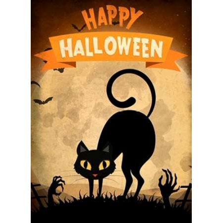 Happy Halloween Black Cat Poster Print by Kimberly Allen (9 x 12)