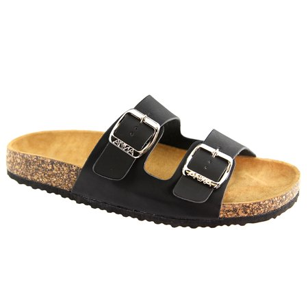 Women's Casual Buckle Straps Sandals Flip Flop Platform Footbed Sandals (FREE SHIPPING) - Flip Flop Cut Outs