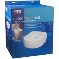 "Carex Raised Toilet Seat, 5 1/2"""