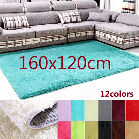 "63x47.2"" Modern Soft Fluffy Floor Rug Anti-skid Shag Shaggy Area Rug Bedroom Living Dining Room Carpet Yoga Mat Child Play Mat"