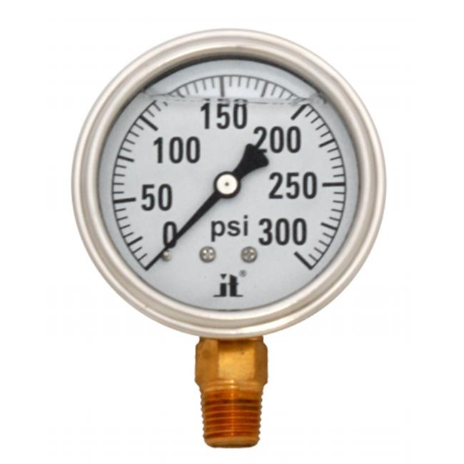 Zenport LPG300-10PK Liquid Filled Pressure Gauge 0-300 Psi, Box of 10