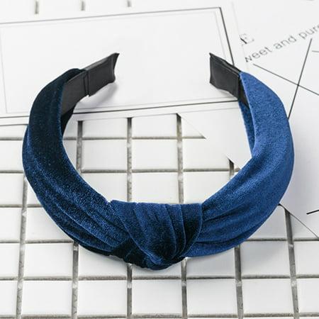 Fancyleo 2 Pcs  Womens Headband Twist Hairband Bow Knot Cross Tie Velvet Headwrap Hair Bands