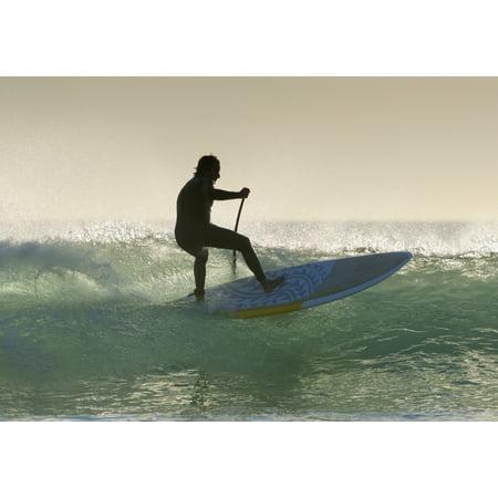 Wakeboarding Los Lances Beach Tarifa Spain Canvas Art - Ben Welsh Design Pics (18 x 12)