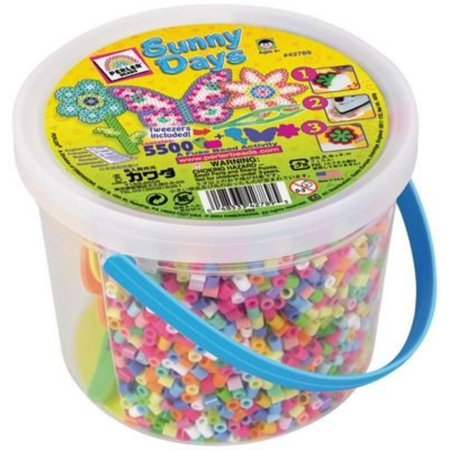 70-73698 Fun Fusion Fuse Bead Bucket-Sunny Days, Perler Fused Bead Kits let you create fun, colorful designs and will keep everyone busy for hours. By Perler - Fused Beads