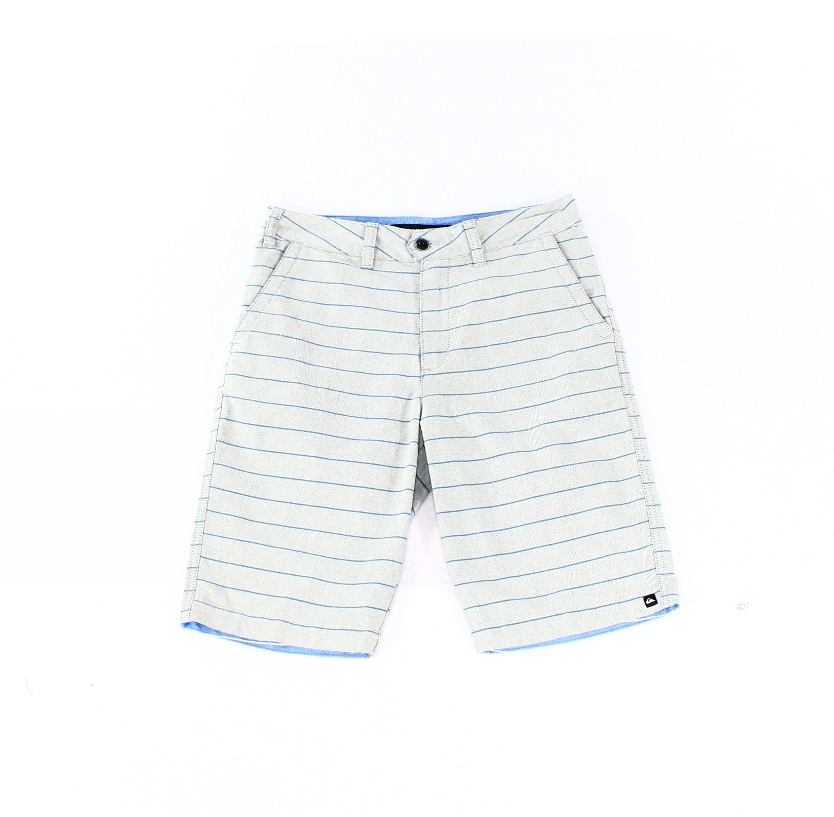 Quiksilver NEW Gray Blue Mens Size 28 Chino Stripe Zipper Fly Shorts