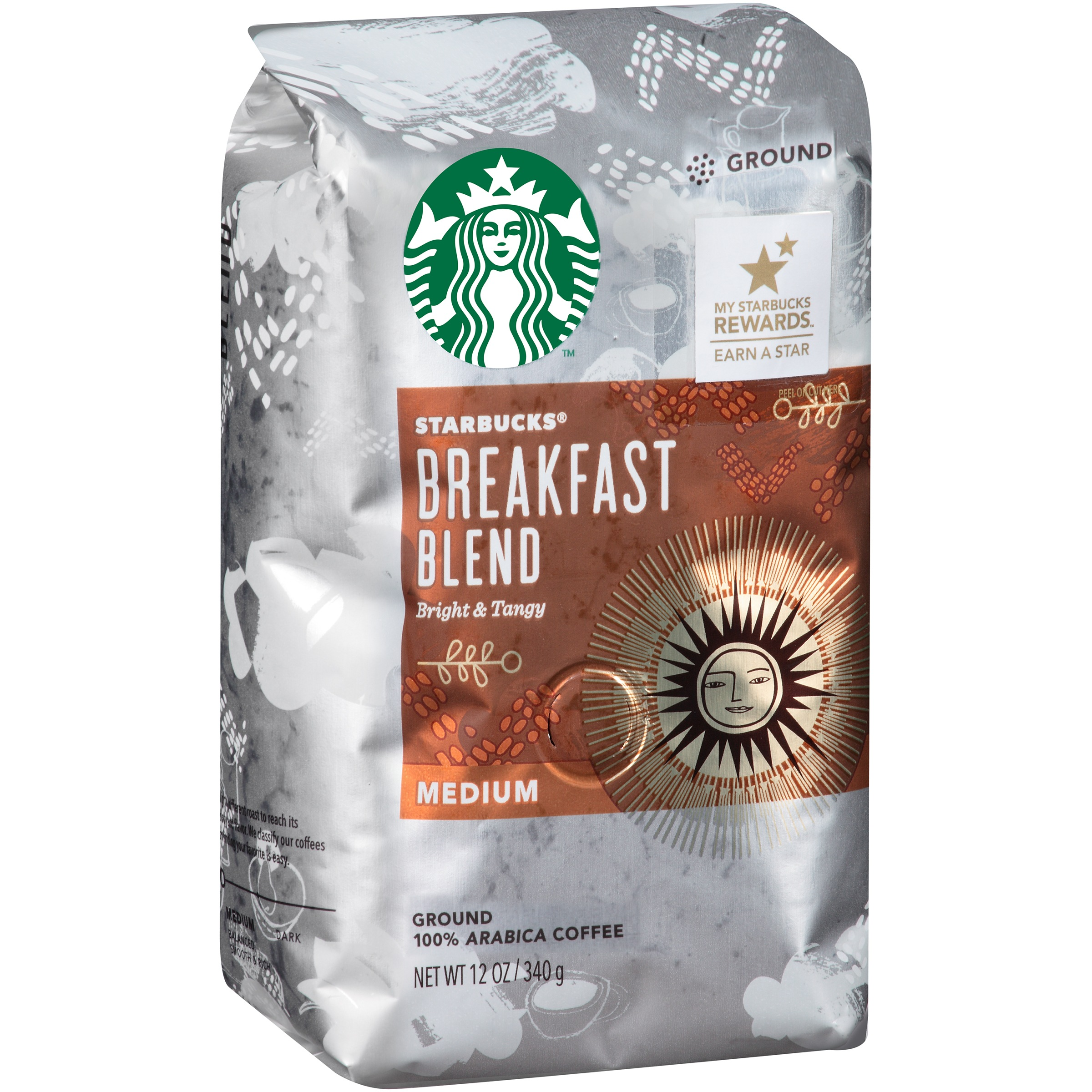 Starbucks® Breakfast Blend Medium Ground Coffee 12 oz. Bag