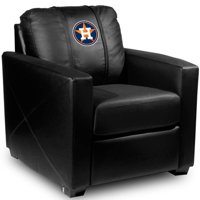 Houston Astros MLB Silver Chair with Secondary Logo Panel