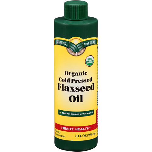 Spring Valley Organic Cold Pressed Flaxseed Oil, 8 fl oz