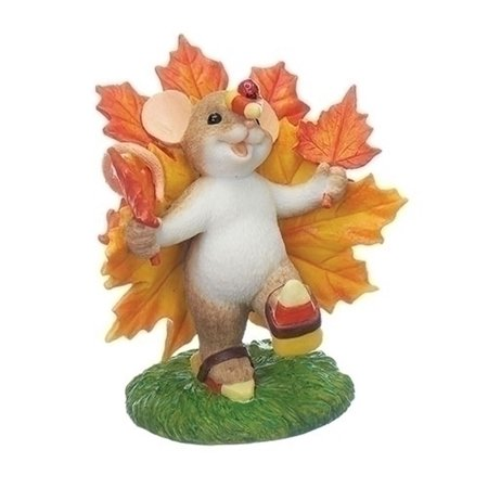 Charming Tails 130459 Harvest and Halloween Mouse On Maple Leaf 2017 - Le Souk Halloween 2017