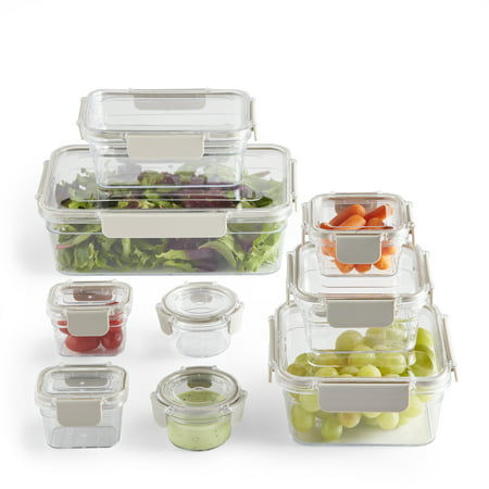 Better Homes & Garden Tritan Storage Containers, 18 pieces Now $17.99 (Was $39.99)