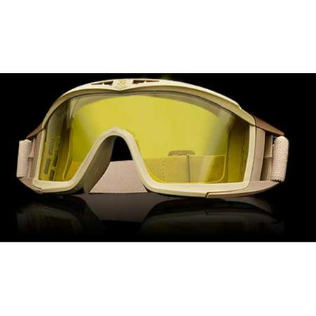 Revision Eyewear Desert Locust Goggles - Revision Eyewear Desert Locust Goggles Basic Kit - HC Yellow Lens, Tan Frame - 4