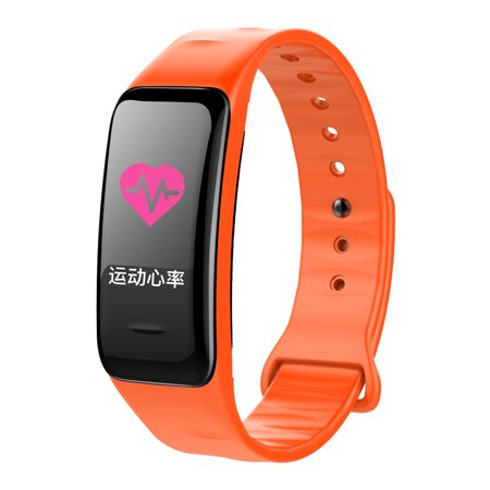 Colorful Screen Digital BT Smart Band Step Heart Rate Monitor Blood Pressure Intelligent Test Monitoring Wristband Waterproof Fitness Bracelet Sleep Watch Sports - image 4 de 7