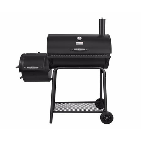 Royal Gourmet CC1830F Charcoal Grill with Offset Smoker, 800 Square Inches,  Black, Backyard Cooking
