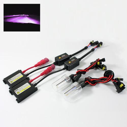 ModifyStreet® 9005/HB3 35W Hi-Power Slim DC Ballast Xenon HID Conversion Kit - 12000K Violet Pink