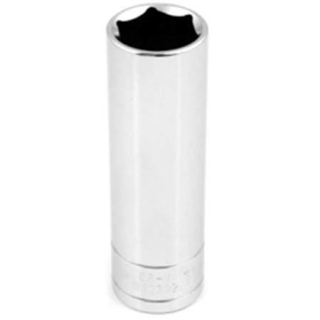 Wilmar W32322 6 Point Deep Chrome Socket, 0.5 in. - image 1 de 1