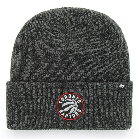 d218d64a839 Toronto Raptors NBA  47 Black Brain Freeze Cuff Knit Beanie Hat - image 1  ...