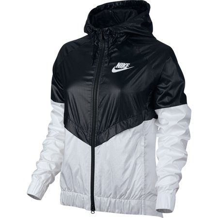 a005da60bff5 Nike NSW Windrunner Women s Outdoor Jacket Black White 804947-010 -  Walmart.com