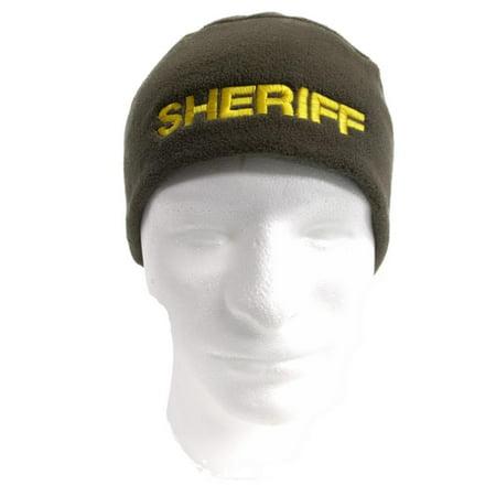 Polar Fleece Beenie or Skull Cap with Police Embroidery ()