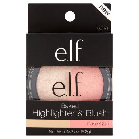(e.l.f. Rose Gold Baked Highlighter & Blush, 0.183 oz)