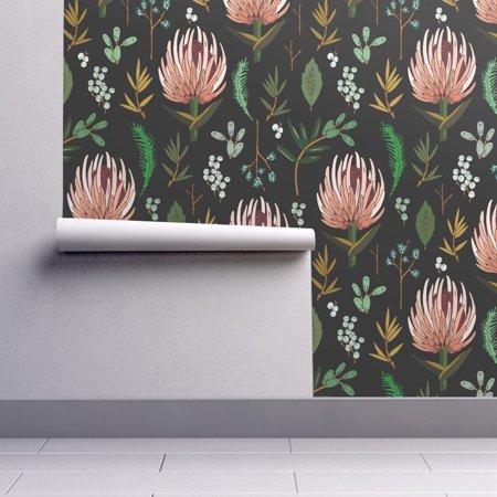 Removable Leaf - Removable Water-Activated Wallpaper Botanical Leaf Floral Flower Botany Holli