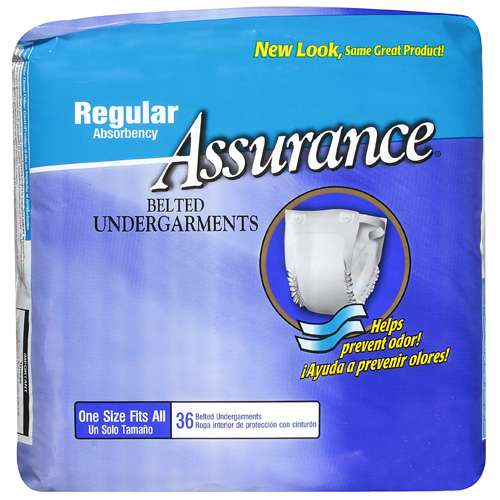 Assurance: Belted Undergarments Regular Absorbency Convalescent Aid