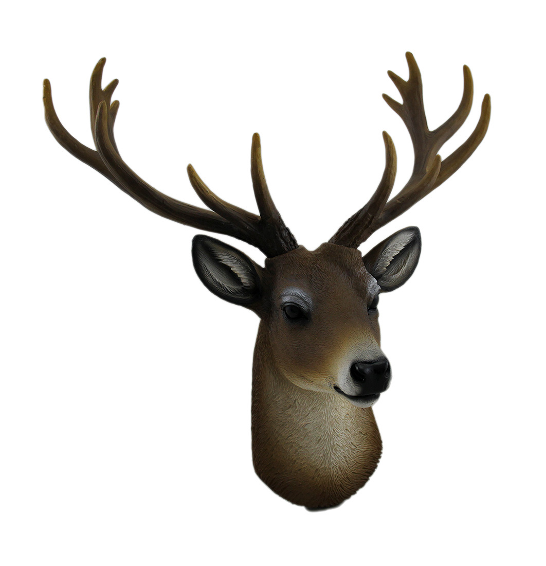 Buck Horns Amazing Antlers Wall Mounted Trophy Deer Head Sculpture by DWK CORPORATION