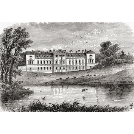 Woburn Abbey Near Woburn Bedfordshire England In The Late 19Th Century From Our Own Country Published 1898 Canvas Art - Ken Welsh  Design Pics (17 x