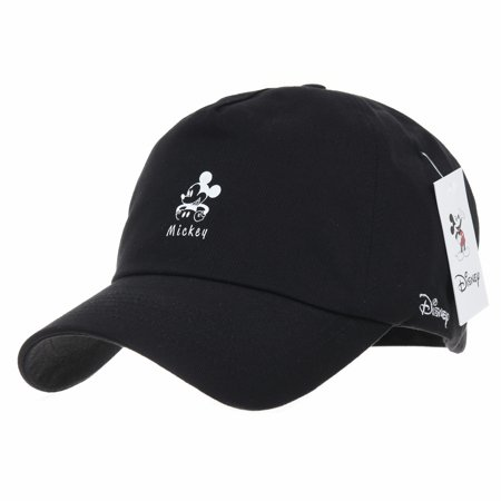 WITHMOONS Disney Mickey Mouse Baseball Cap Club House CR1345 (Black) -  Walmart.com ffe5855b211