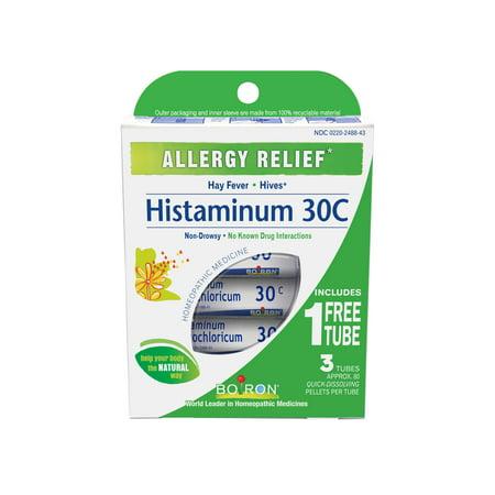 Boiron Childrens Coldcalm Pellets - Boiron Histaminum 30C Pellets, 2 Tubes Plus Bonus Tube