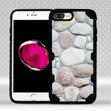 iPhone 7 Plus Case, by Insten Rocky Pebbles FreeStyle Challenger Hard Plastic/TPU Hybrid Shockproof Cover Case for Apple iPhone 7 Plus - Black - image 3 of 3