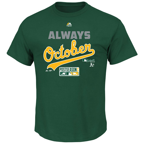 Oakland Athletics Majestic Youth Always October T-Shirt - Green