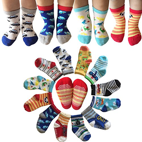 Kakalu Assorted Non Skid Ankle Cotton Socks With Grip For 12 36