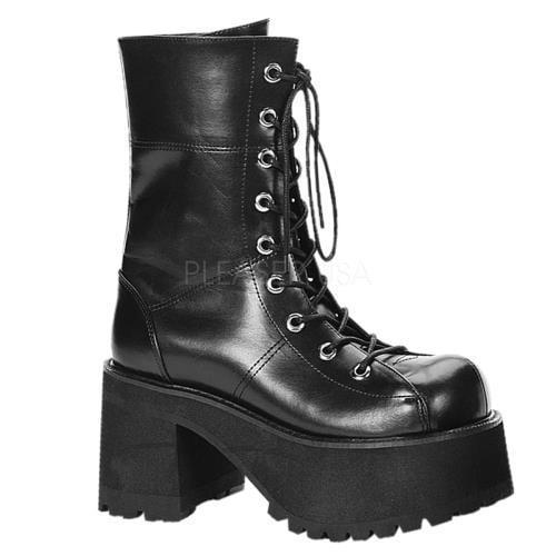 RAN301 B PU Demonia Vegan Boots Womens BLACK Size: 11 by